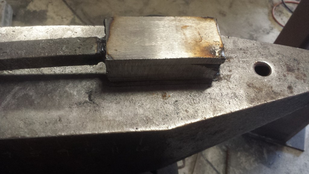 Welded up and ready to go into the forge
